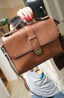 New arrival 2013 vintage briefcase handbag bag women's handbag lockbutton messenger bag w652
