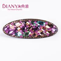 Elegant hair accessory luxury crystal fine hairpin austrian rhinestone clip spring clip folder 02289