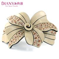 Elegant hair accessory rhinestone flower hairpin hair maker hair pin clip hair accessory spring clip folder