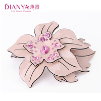 Elegant quality rhinestone flower hair accessory spring clip side-knotted clip hair accessory hair pin 073