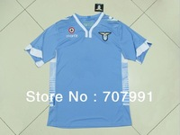 new 2013-14 high thailand quality s.s lazio home light blue football soccer jerseys uniforms shirts embroidered logo