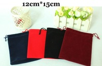 50pcs/lot 12cm*15cm Flannel gift pouches for jewelry display small jewelry bag free shipping