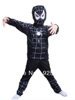 Hot Halloween Spider Man Spider-Man black Suit Clothes Apparel Spiderman black Costume Children Kids HY-50268