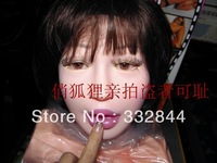 2013 new sitting position!semi-solid silicon sex doll.inflatable doll with vagina,anal,oral sex,pubic hair