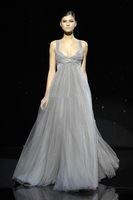 291 - 2013 new elegant Grey Prom Ball Formal Party Gowns beading Dress Wedding Bridesmaid Bridal wedding dress Free Shipping