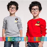 Kids Hoodies Long Sleeve Hoodies Boys Gray Hoodies Tops Children Coat, Free Shipping K2196