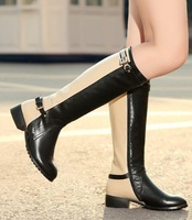 CooLcept Free shipping over knee natrual real genuine leather high heel boots women snow warm boot shoes R1307 EUR size 33-43