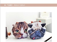 2013 Womens Cute Cartoon Animal Cat/Dog Head Pattern Retro/Vintage Handbag,HighStreet Personality Tote bag