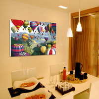 Frameless picture on wall acrylic painting by numbers abstract drawing by numbers unique gift coloring by numbers hot balloon