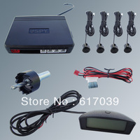 "Easy installation high quality smart 2.5"" LCD wireless parking sensor system 4 black sensors"