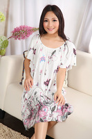pregnant woman comfortable cotton butterfly short-sleeve nightgown