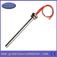 Industrial high watt. high density cartridge heater exchanger with flange