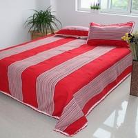 100% old coarse cotton three piece set 100% cotton sheets pillow case