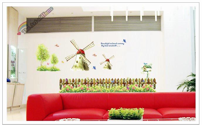 Online kopen wholesale windmolen muurtattoo uit china windmolen muurtattoo groothandel - Deco originele muur ...