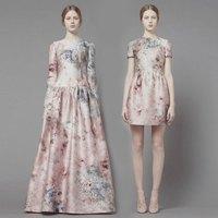 Mikado print dress l03038