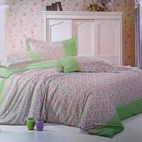 Customize 1.5 single bed sheet duvet cover pillow case piece set bedding