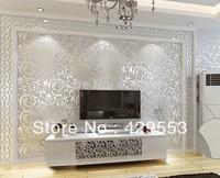 53cm*10m Fashion Brief Bedroom Wallpaper TV  PVC Wallpaper