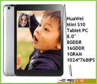 Hot sale promotion original huawei MINI Tablet MINI S10 1GRAM 16G DDR 1024*768IPS Wholesale price surrpot 3G wifi multilanguage