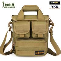 Outdoor tactical shoulder handbag cross-body army small man bag Size:24*22*12cm 1000D Cordura Black/Muddy/ACU/The Ruins Camou