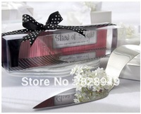 "Factory directly sale 8pcs/LOT wedding favor ""Slice of Style"" Stainless Steel High Heel Cake Server"