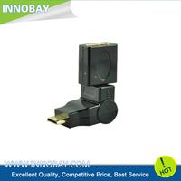 360 Degree Rotation Swivel Mini HDMI Male to HDMI Female M/F Adapter Converter Free Shipping + Worldwide Dropshipping
