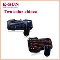 Tarantula luminous backlit keyboard game mouse cfdota professional gaming keyboard set Free Shipping