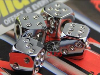 Crystal Diamond Tire Valve Cap Modification Car Tire Valve Caps 3 Colors FreeShipping