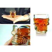 1PCS Skull Head Vodka Shot Wine Glass Drinking Cup Crystal Barware 2.5 Ounces/74 ml IA358