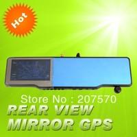 Car rearview mirror+GPS+HD 720P DVR recorder+Built-in radar detector for Russia+bluetooth talk+wireless parking camera