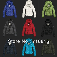 Free Shipping 2013 Winter Women Duck Down Jacket Ladies Slim Hooded Fashion Warm Parkas Coat
