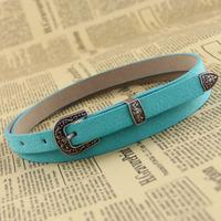 Vintage mixed pigskin candy piece set belt fashion all-match genuine leather strap female