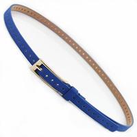 2012 candy color long needle agings thin all-match women's cutout belt waist decoration pigskin belt