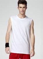 Moonbasa - men's clothing outdoor fitness sports sleeveless pure cotton vest t-shirt fashionable casual