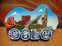 Free Shipping Tourism Souvenir Gift Resin City Fridge Magnetic Oslo 7*4.5CM