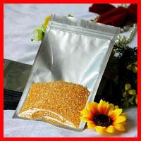 Free Shipping 200pcs/lot 9cm*13cm*180mic High Quality Half Clear + Al Foil Small ZipLock Plastic Food Bags Packaging Plastic Bag(China (Mainland))