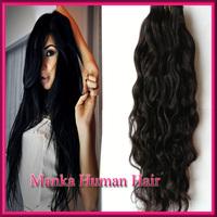 High Quality Peruvian Curly Hair 1pcs/lot Unprecess Virgin Human Real Hair Extension Natural Black Color 100g/bundle
