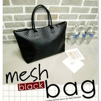 2013 bag casual fashion gentlewomen bag woven bag shoulder bag big bag women's handbag black