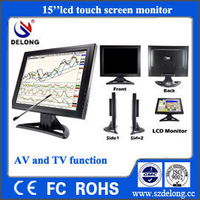 "Promotion TFT 15"" LCD Monitor With 4-wire Resistive Touch and VESA Bracket"