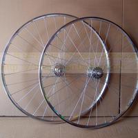 Vintage round flywheel hub 700c felly a pair of
