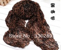 FREE SHIPPING, 2014 spring and autumn new fashion  large Leopard wrinkled scarf shawl