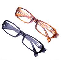 promotion 10pcs/lot plastic reading glasses unisex black/brown resin reader super light men women wholesale free shipping
