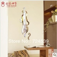 Free shipping!New arrival woman smiling mirror wall stickers living room bedroom background 3D wall  decoration
