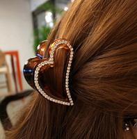 Korean Popular Hair Jewerly Full Crystal Rhinestone Hair Claws Love Heart Hair Claw AF157