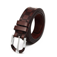 Free Shipping +Best sell Design Leather Belt Mens Genuine Leather Belt Man Waist Luxury Belts Alloy Buckle A04