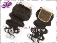 """Queen hair virgin Peruvian body wave top closures 4x4"""" swiss lace front top closure pieces bleached knots closure free shipping"""