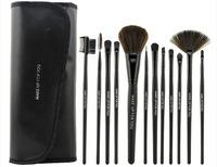 12Pcs Cosmetic Facial Make up Brush Kit Makeup Brushes Tools Set + Black Leather Case professional brush set HIGH QUALITY