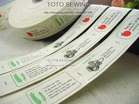 Min.order is $15 (mix order),the travel of love Zakka cotton sewing label,3.5CM WIDTH  ,Free Shipping,TOTO sewing ,B2018105
