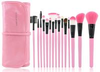 15 Pcs Cosmetic Facial Make up Brush Kit Makeup Brushes Tools Set + Black Leather Case professional brush set HIGH QUALITY