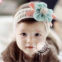 Latest Crochet Baby Girl Floral Headband Big Flower Baby Girl Toddler Hairband Hair Ornament