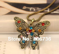 Min.Order $15 Free Shipping Promotion Fashion Butterfly Necklace Pendant Necklace Sweater Necklace Butterfly Necklace For Women
